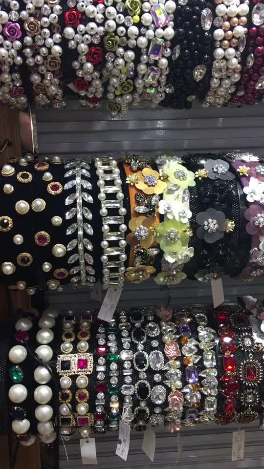 Euramerican Luxury new design party hair band girls hairbands antique jewel bridal rhinestone baroque crystal headband for women
