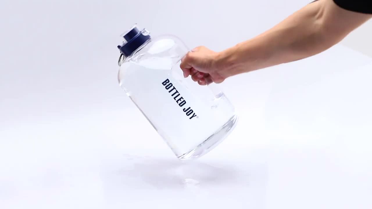 1 galon Su Şişesi Toptan BPA ücretsiz, Tritan Bulaşık Makinesi Güvenli Plastik Su Şişesi Sürahi