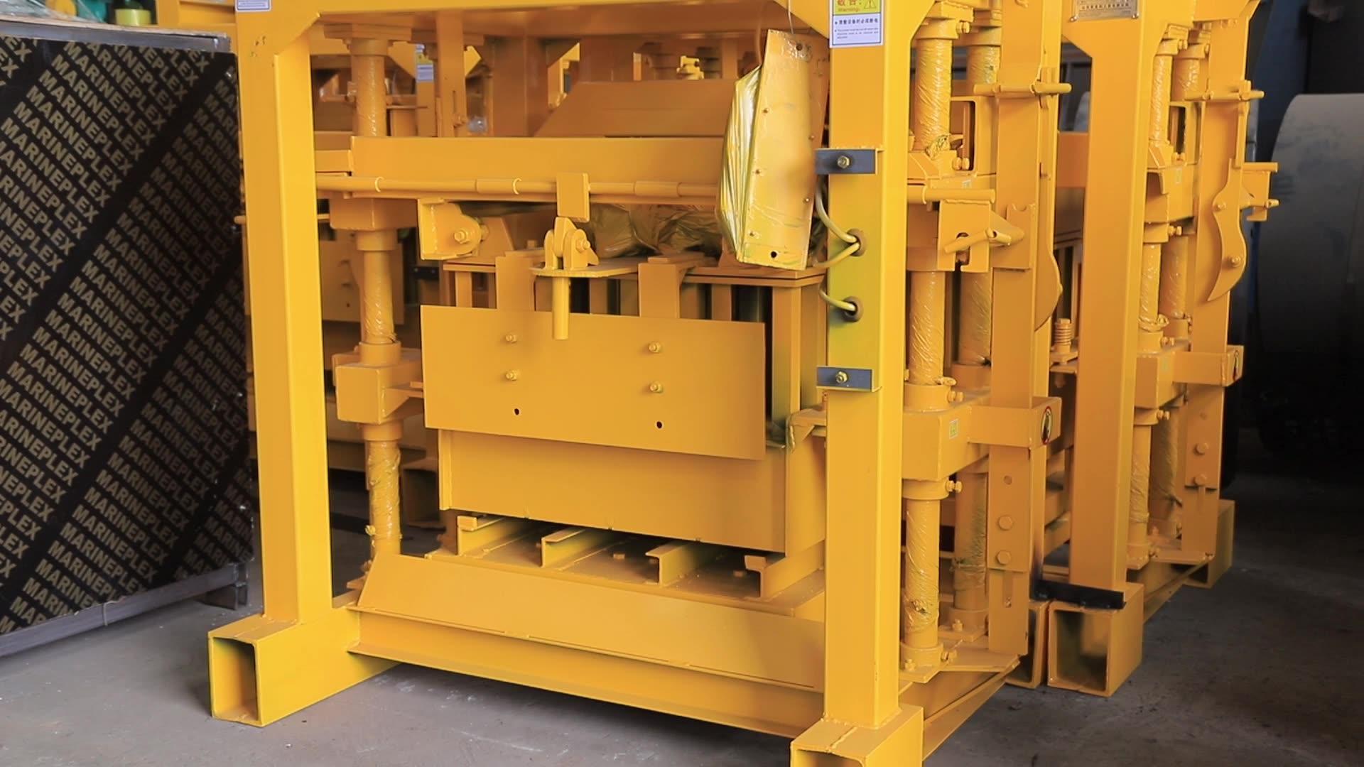 Qt4-30 Diesel Engine Concrete Block And Interlocking Brick Making Machine With Hydraulic Station