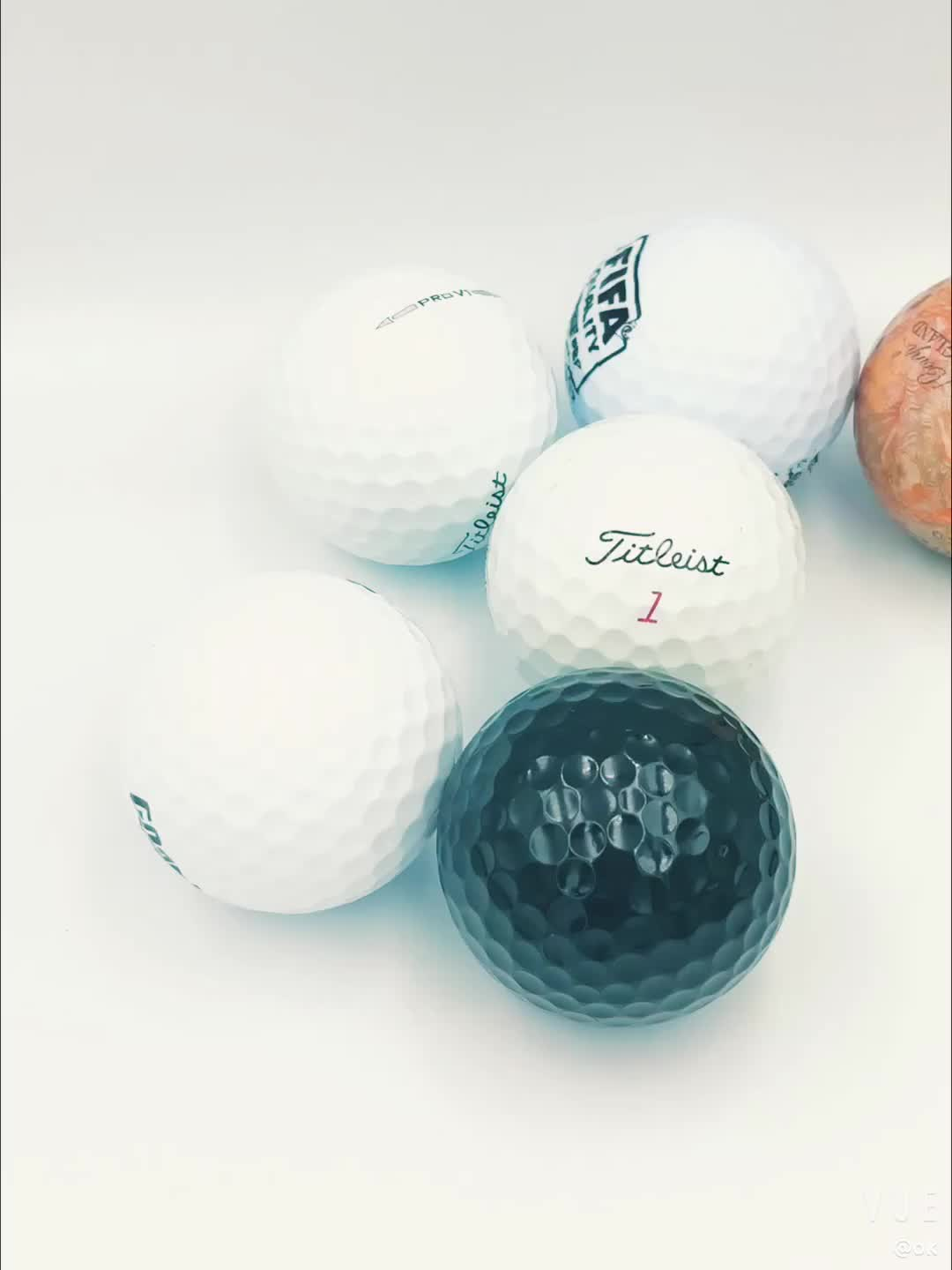 Customized printing logo 2 3 4-pieces blank   golf ball for Training and tournament