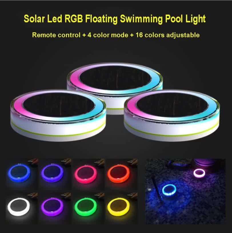 PC ABS IP68 Solar RGB Floating waterproof outdoor led light swimming pool