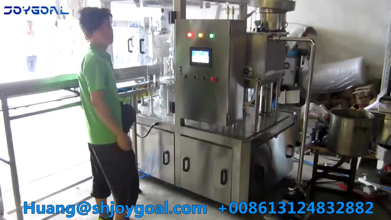 Full auto spout pouch filling capping machine/synthetic bags