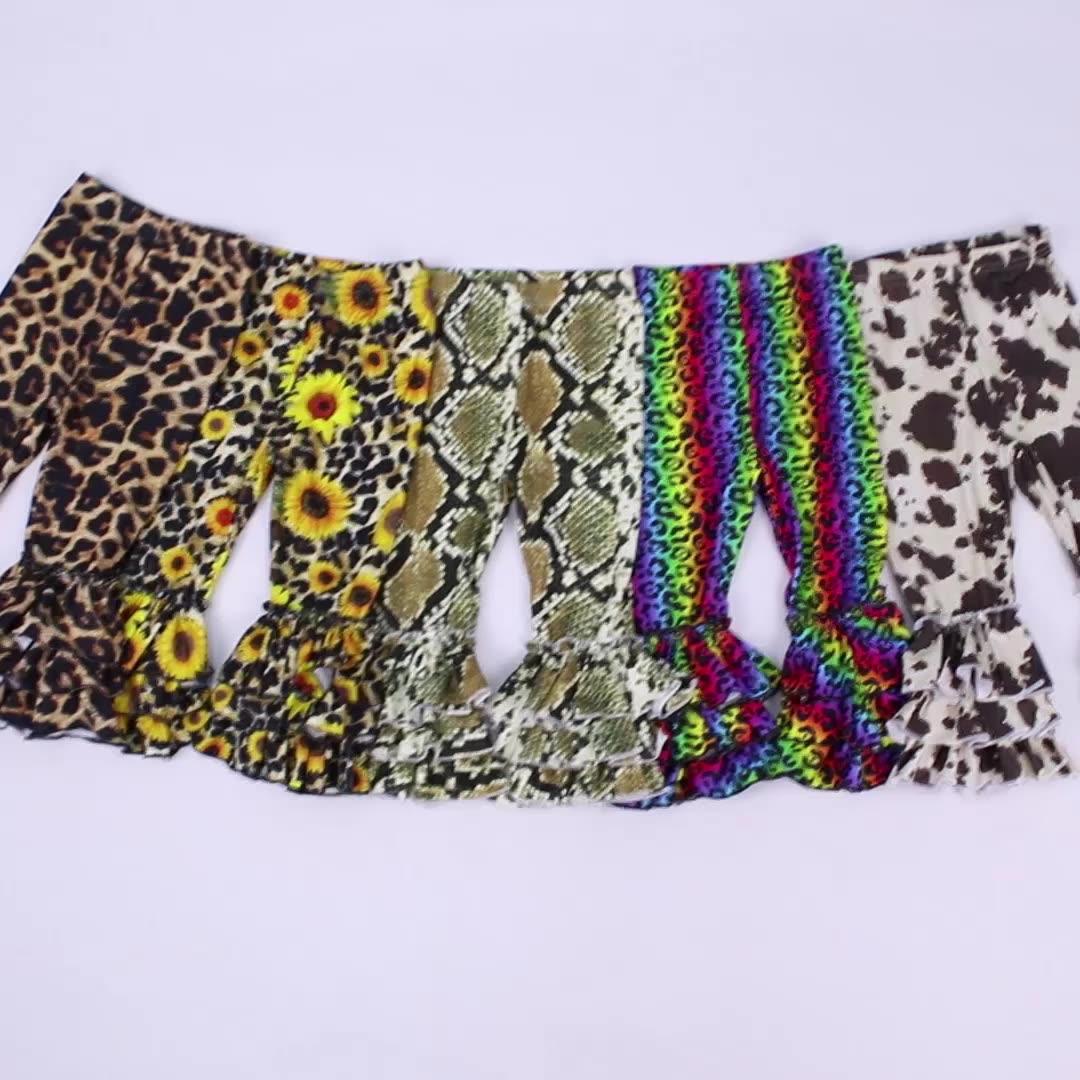 Neueste Design Baby Leggings für Mädchen Tripple Kräuselte Leggins Süße Mädchen Enge Hosen