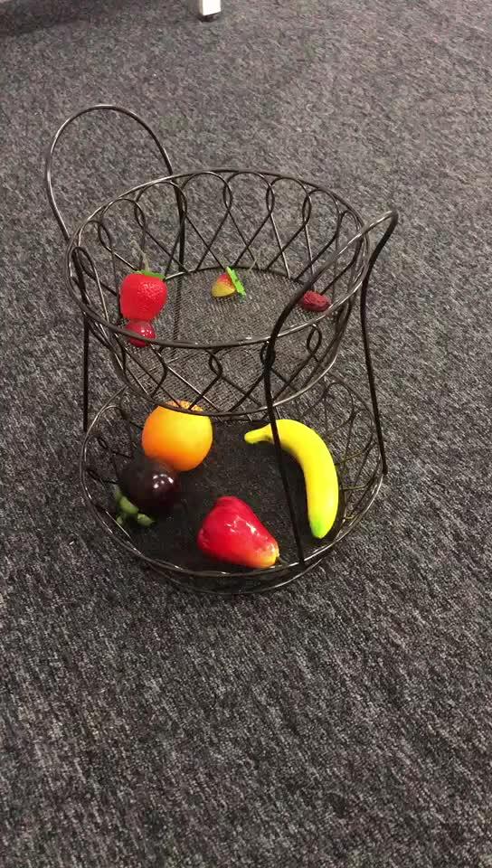 Da sposa controsoffitto della decorazione 2 fila in piedi nero cesto di frutta
