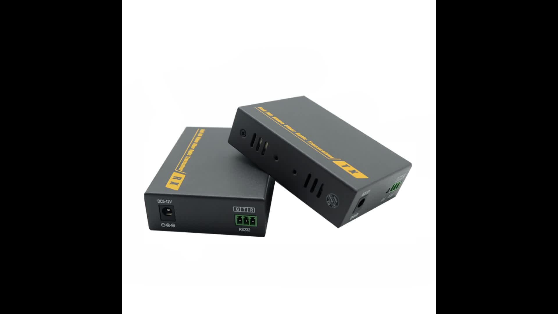 4K HD 2KM Fiber optic Extender Transmitter and Receiver up to 2km,  Support 3D signal KVM function