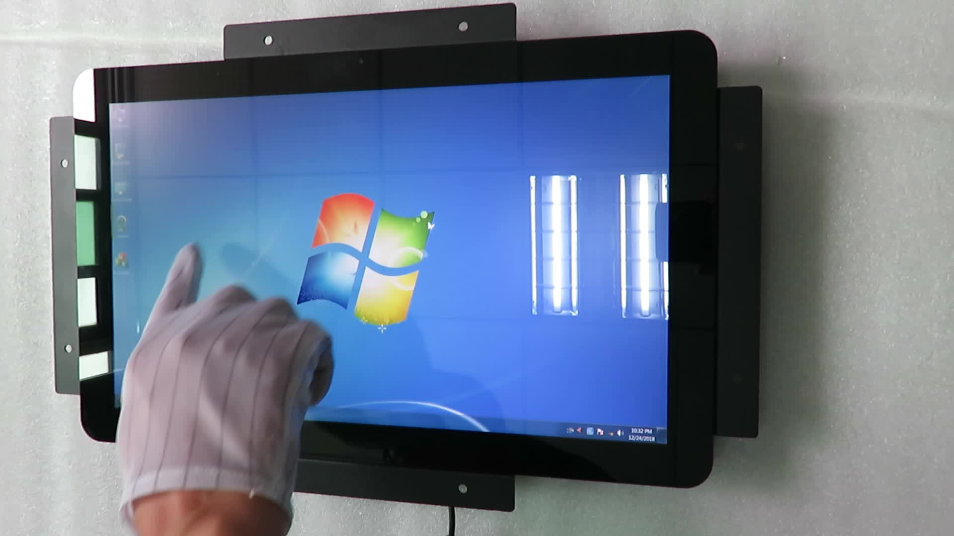 "12"" square touch screen open frame lcd monitor"