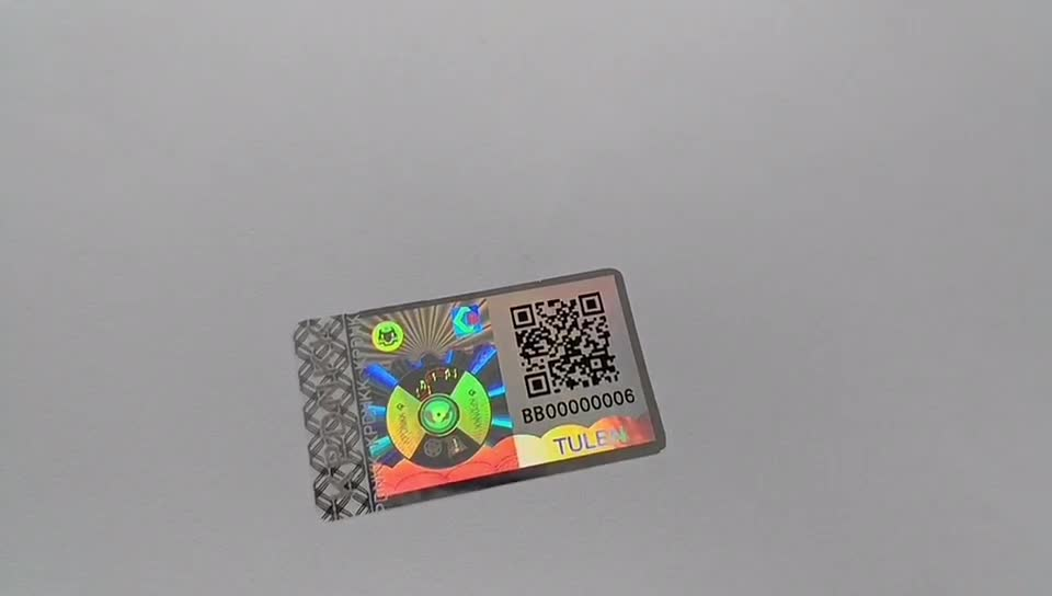 3D Custom Hologram Sticker with QR Code & Serial Number