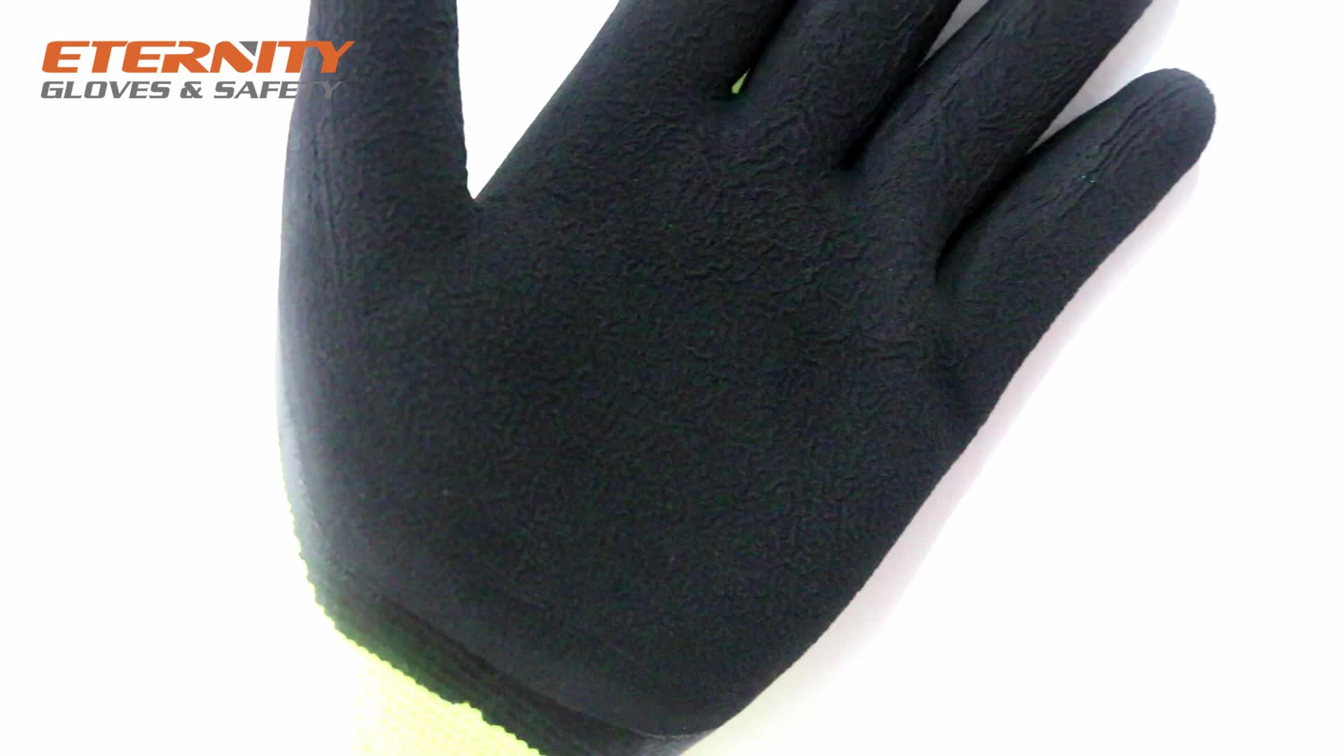 Industrial  Black  Latex Foam Palm Coating Gloves