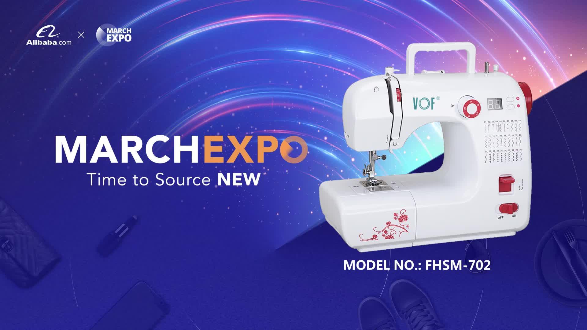 Hot selling huishoudelijke naaimachine VOF FHSM-702 mini elektrische plooien naaimachine