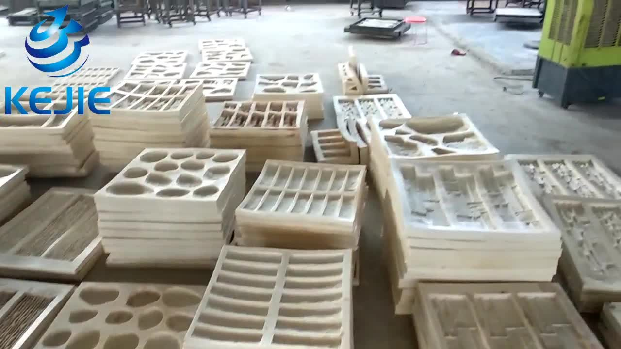Concrete Silicone rubber polyurethane 3d stone wall molds for artificial stone