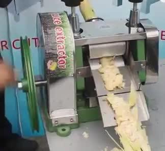 JUYOU Facile Operare Manuale Attrezzature Negozio di Frutta di Canna Da Zucchero di Frantumazione Mulino