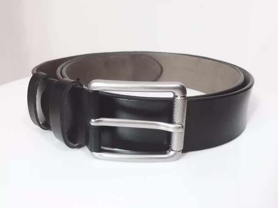 Fashion High Quality Casual Vintage Cowhide Full Grain Belts Leather Men