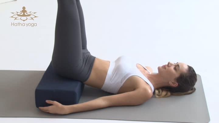Stable supportive rectangular portable cotton yoga pillow bolster