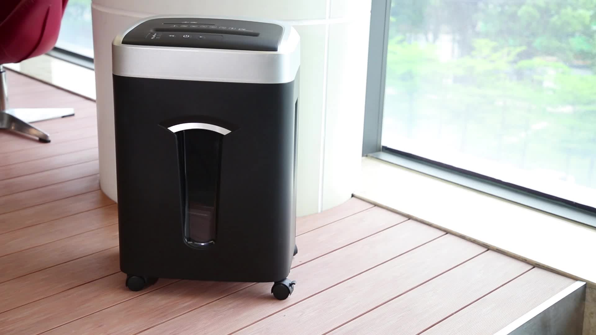 2019 hot selling 10 sheets paper cd card 230mm width micro cut large paper shredder