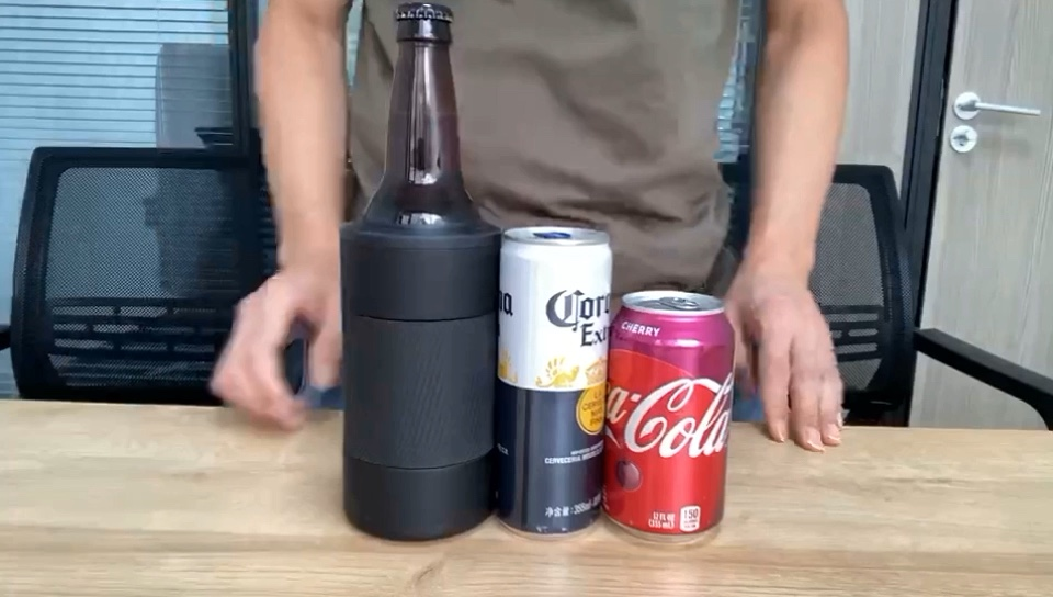Reekoos 12oz Triple Insulated Skinny Can Cooler Dishwasher Safe Double Walled Stainless Steel Slim 4 in 1 Can Cooler