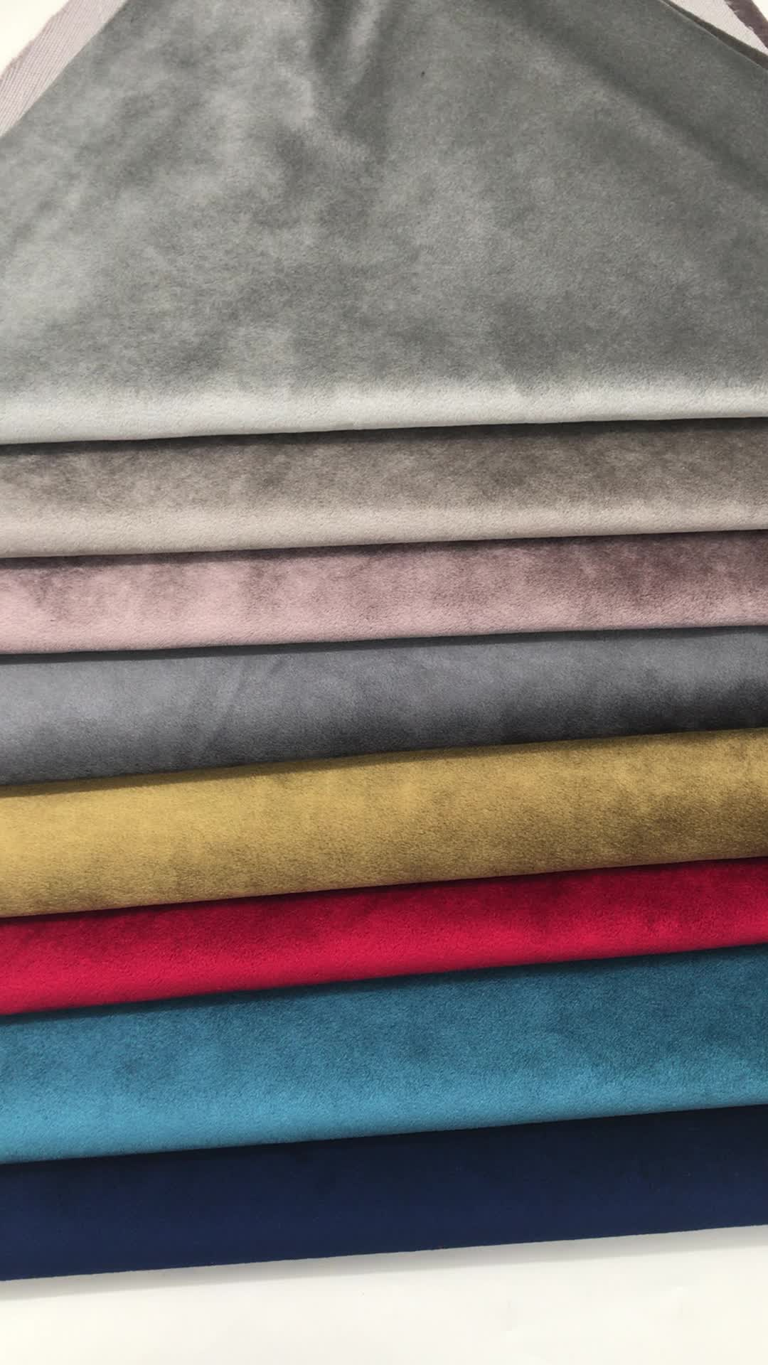 Wholesaler 100% polyester plain shiny italian curtain furniture upholstery fabric
