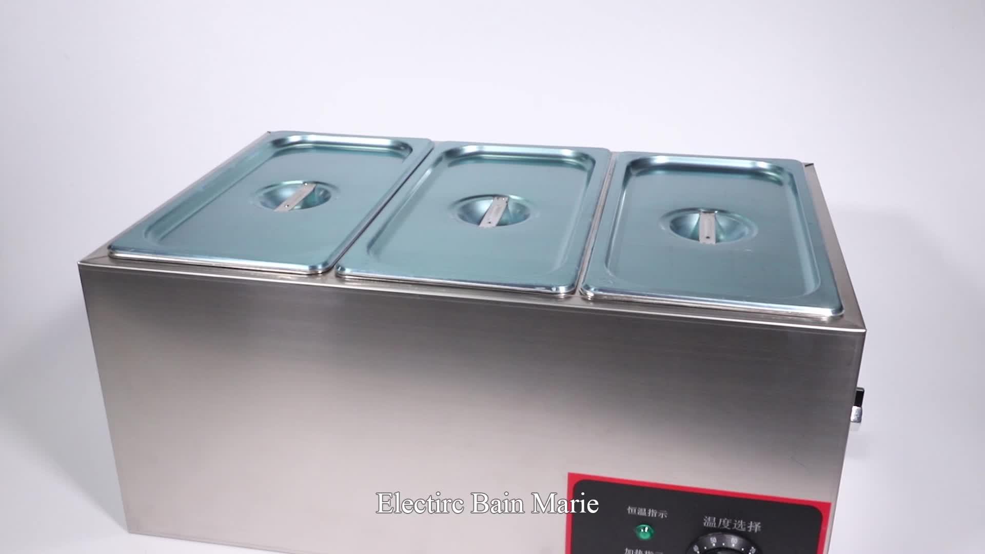 4 פאן מסחרי נירוסטה מזון חם מיכל/מטבח מזון מהיר ציוד/מזון חם למכירה