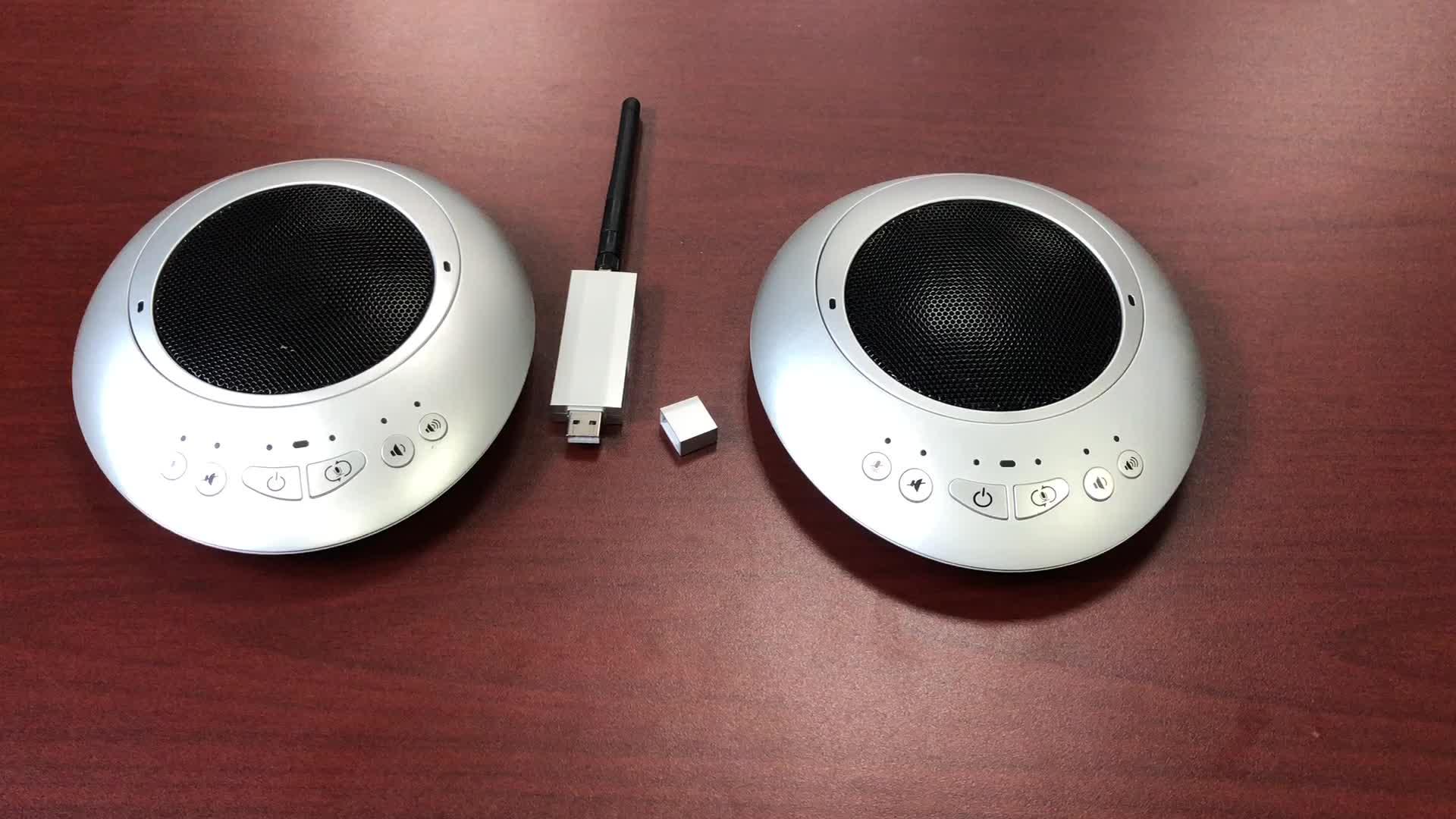 Hot selling Omni Draadloze Speakerphone voor Audio Conference Systeem