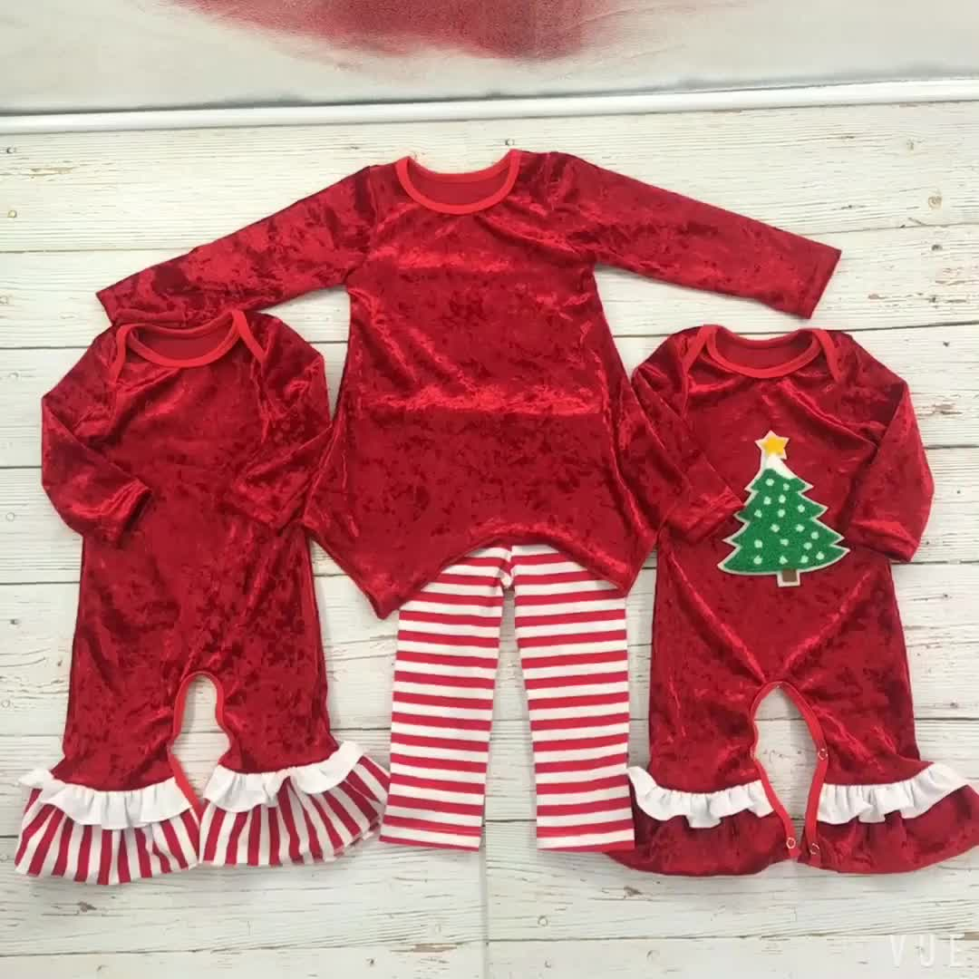 Baby Girl Clothes Velvet Christmas New Boutique Baby Romper
