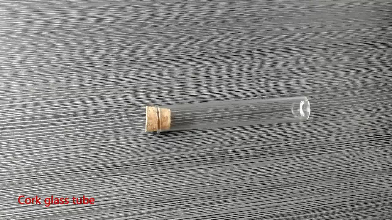 Vetro Comune tubo di Vetro Smussato Pre-Rotolo di Tubo Con tappo in sughero con la stampa