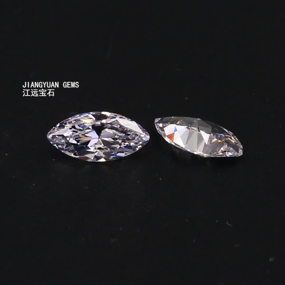 Wuzhou CZ Marquise Shape White Cubic Zirconia Stone