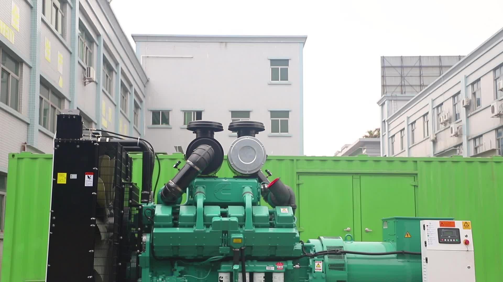 CE goedgekeurd 1000kw hot koop stille type diesel generator set met Cummins motor uit China fabriek