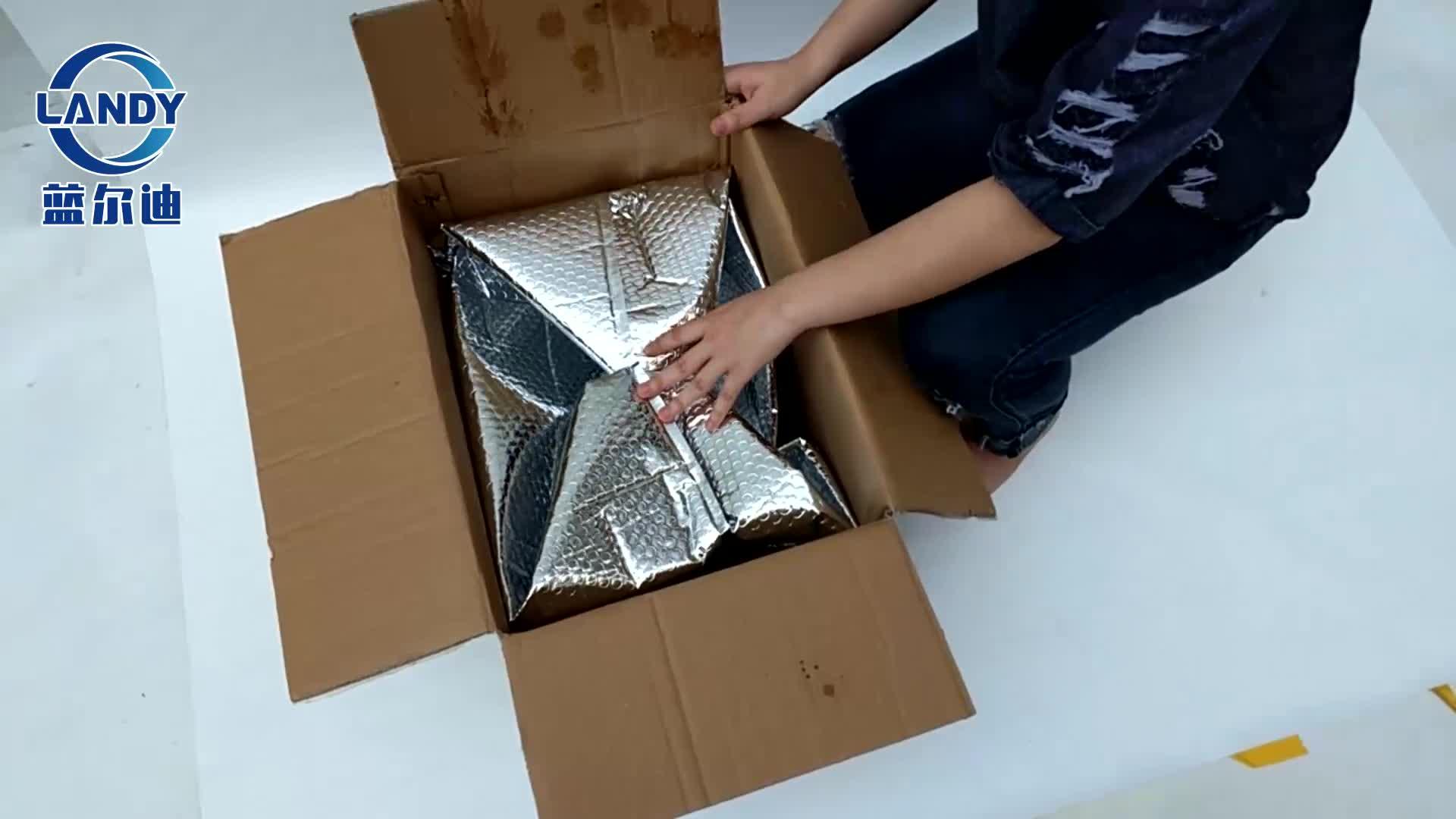 11x85x55 usa e getta foil backed isolamento del dispositivo di raffreddamento alluminato stagnola isolata box fodere per il freddo