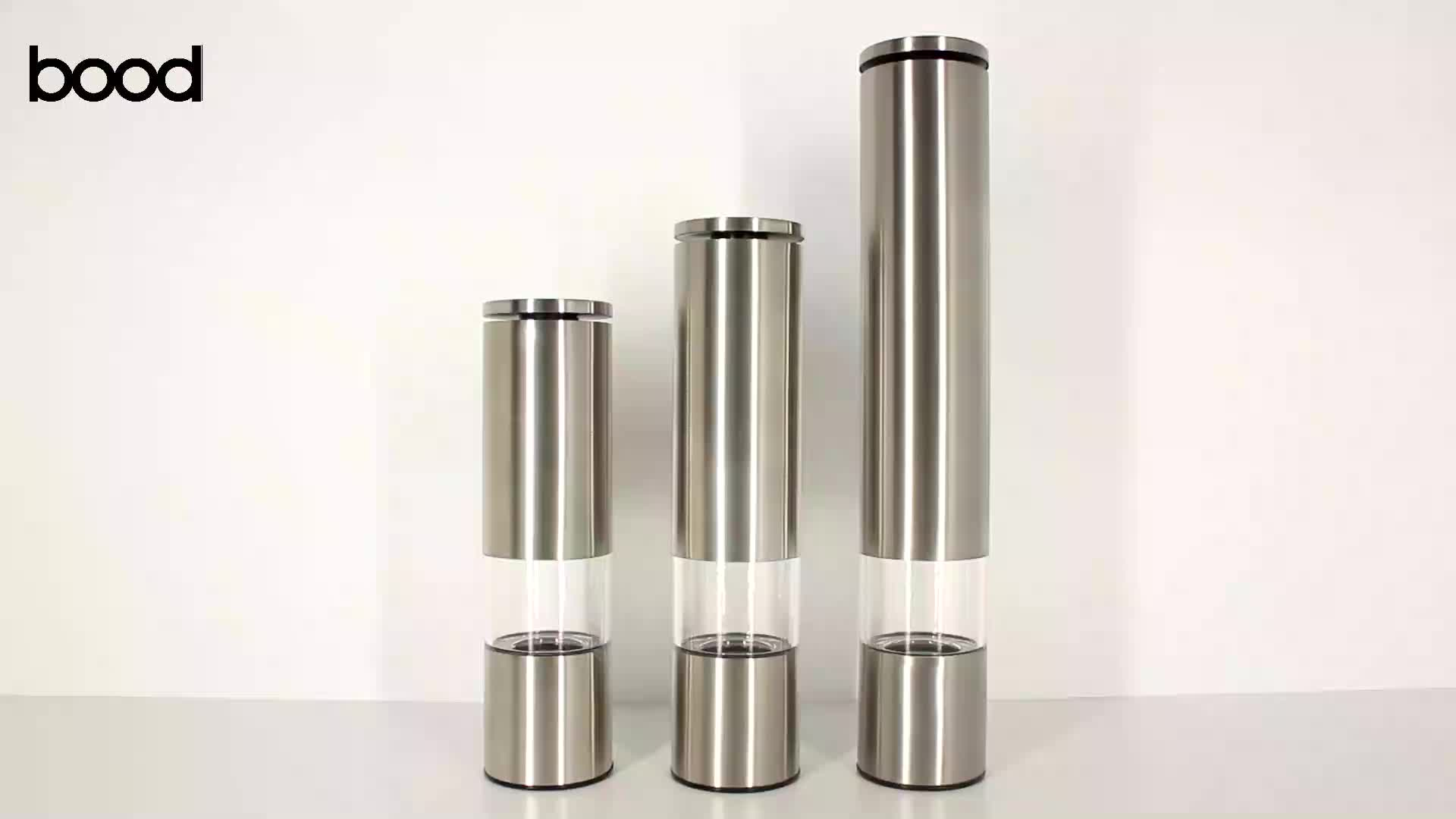amazon manual salt and pepper mill stainless steel body with ceramic core any size is available