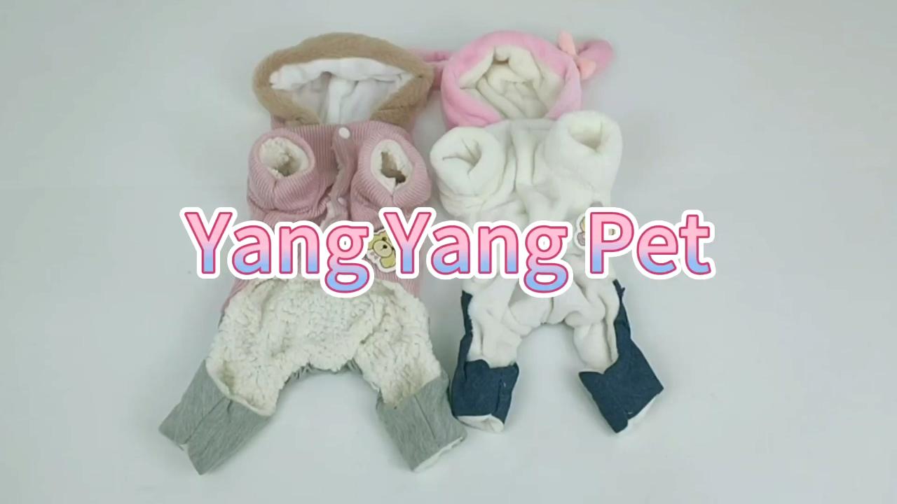 Perro de invierno cálido ropa de algodón acolchado de algodón abrigo ropa para mascotas ropa adorable perros ropa de perro