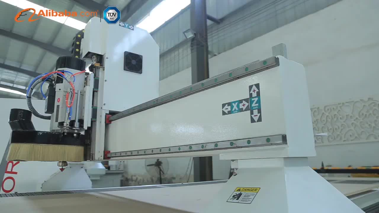 1666 ATC cnc router wood carving machine with servo motor and driver