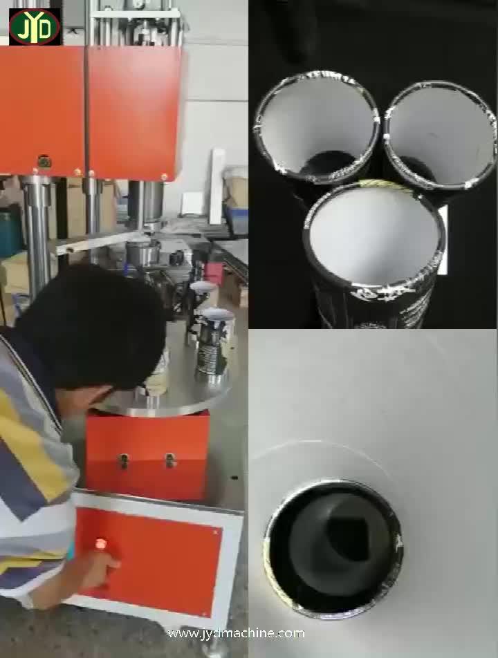 JYD سعر المصنع شبه التلقائي ورقة أنبوب الشباك آلة التشطيب ورقة علب أنبوب الشباك آلة