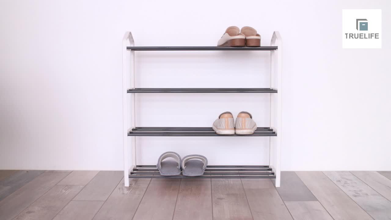 Pronto per la spedizione di plastica 4-tier scarpiera | Taiwan | display | Moderno | home storage | Metallo