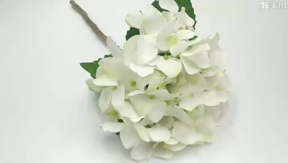 High Quality Long Service Life Artificial Hydrangea Real Touch Silk Flowers