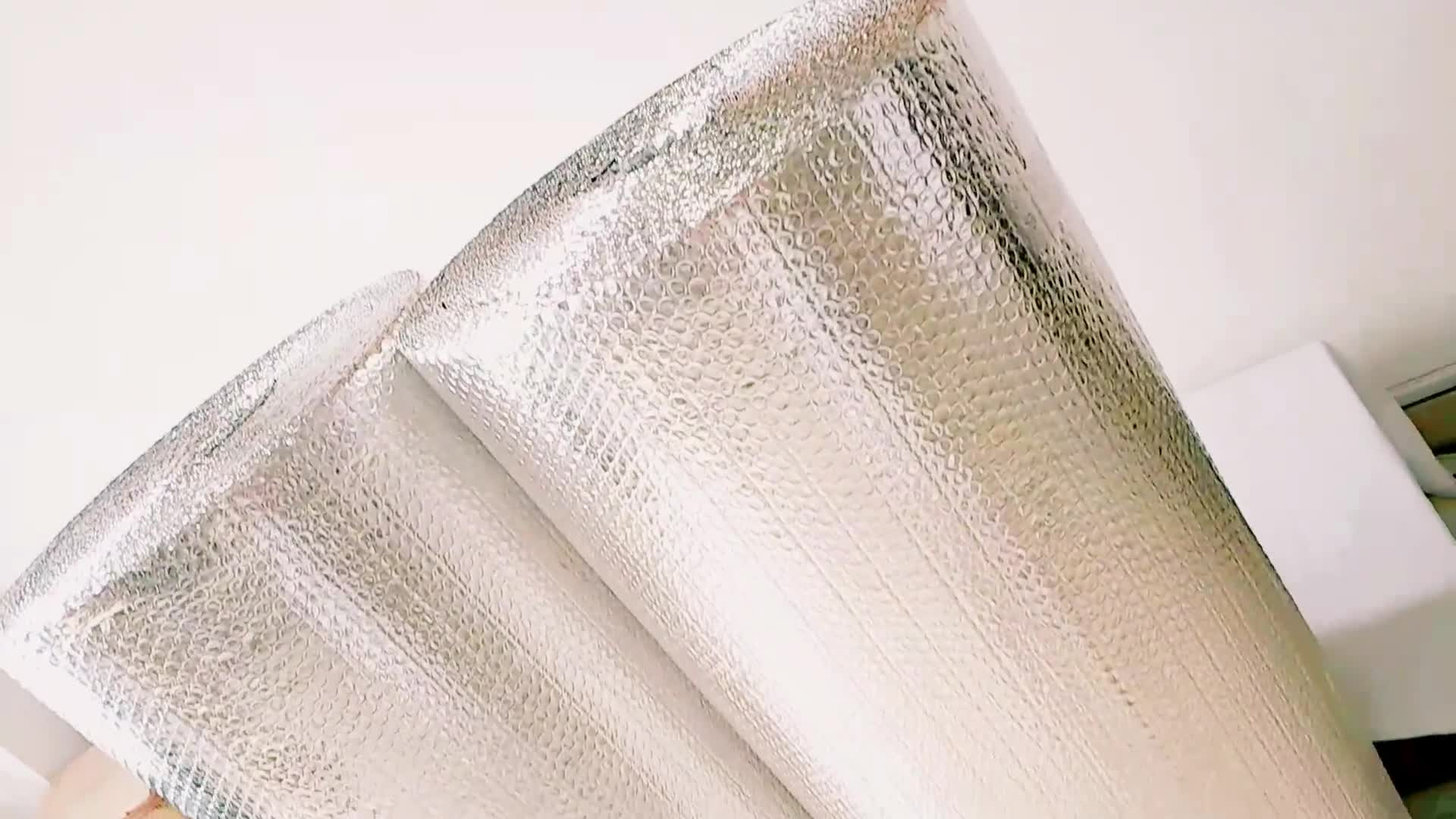 Roof Heat Insulation Aluminum Foil Bubble Material / Thermal Insulation For Wall / Floor