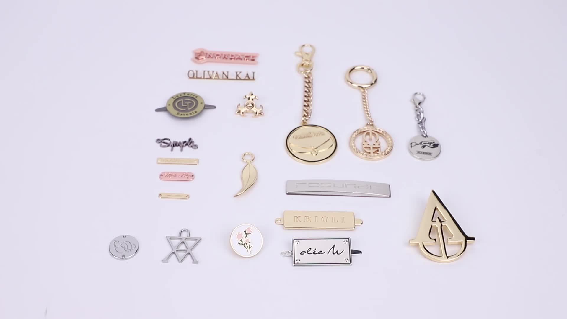 OEM ODM Fashion Bag Accessories Making Metal Embossed Name Plate Logo Tag,Custom Engraved Metal Brand Logo Labels For Handbags