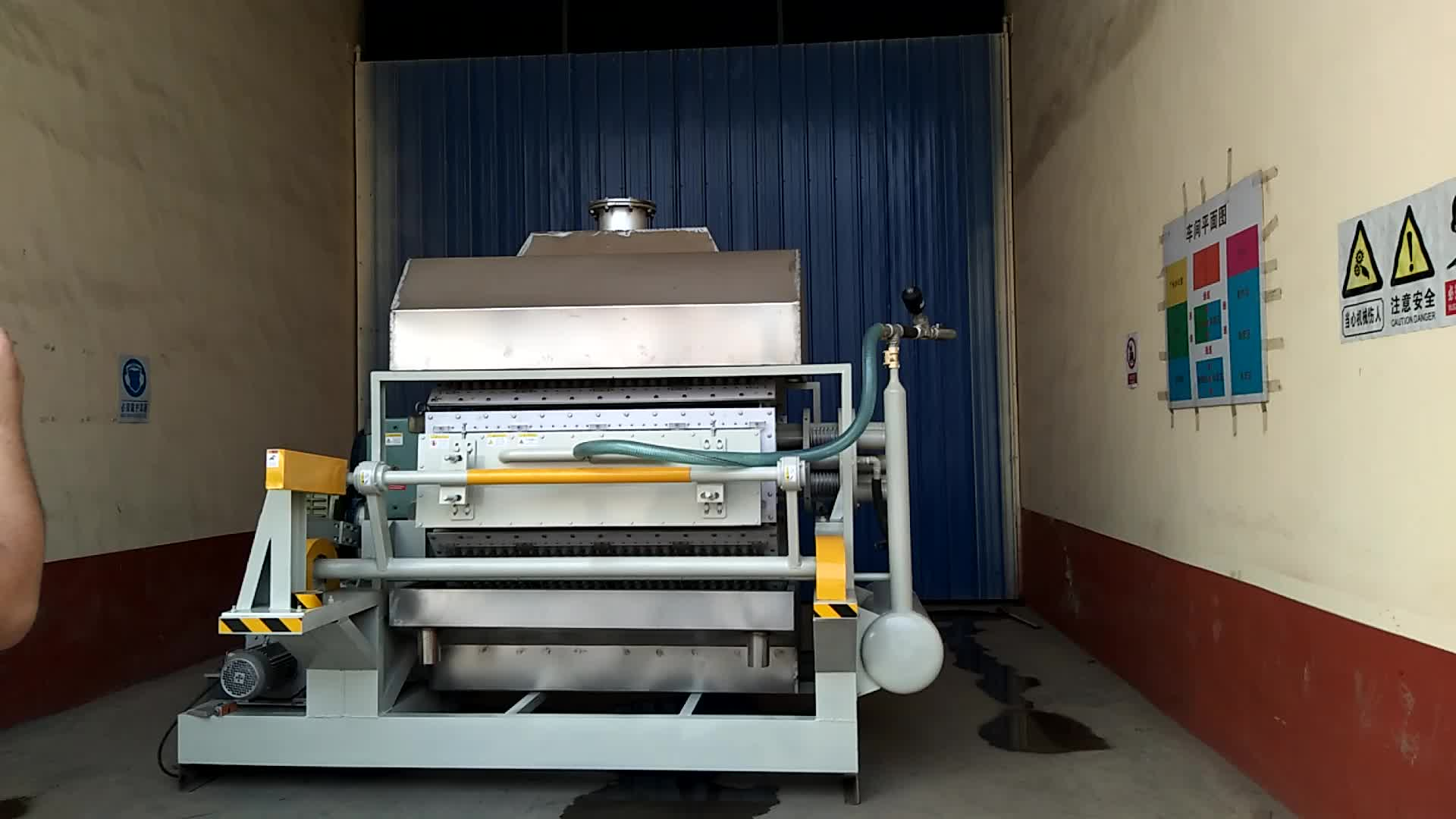 High speed 2200-2500 pieces per hour small paper egg tray  machine for making egg tray and carton