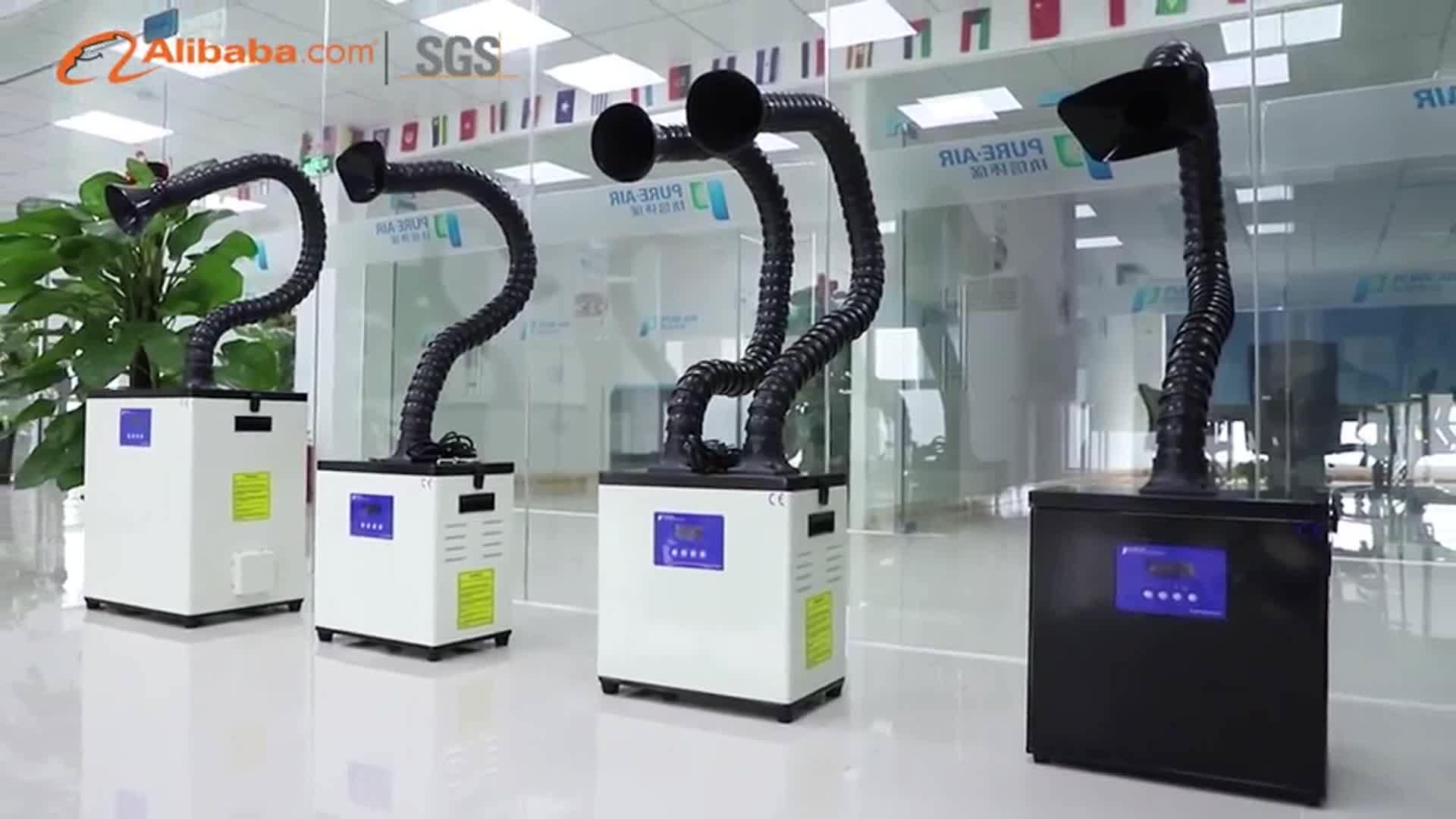 Industrial pequeño colector de polvo de pequeña máquina de marcado láser