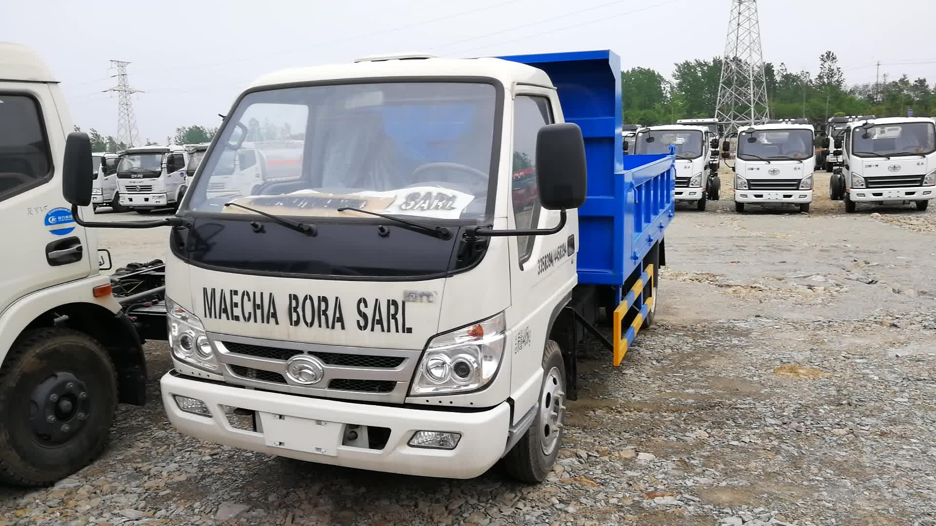 2 t volquete hidráulico camión Forland camión volquete para la venta