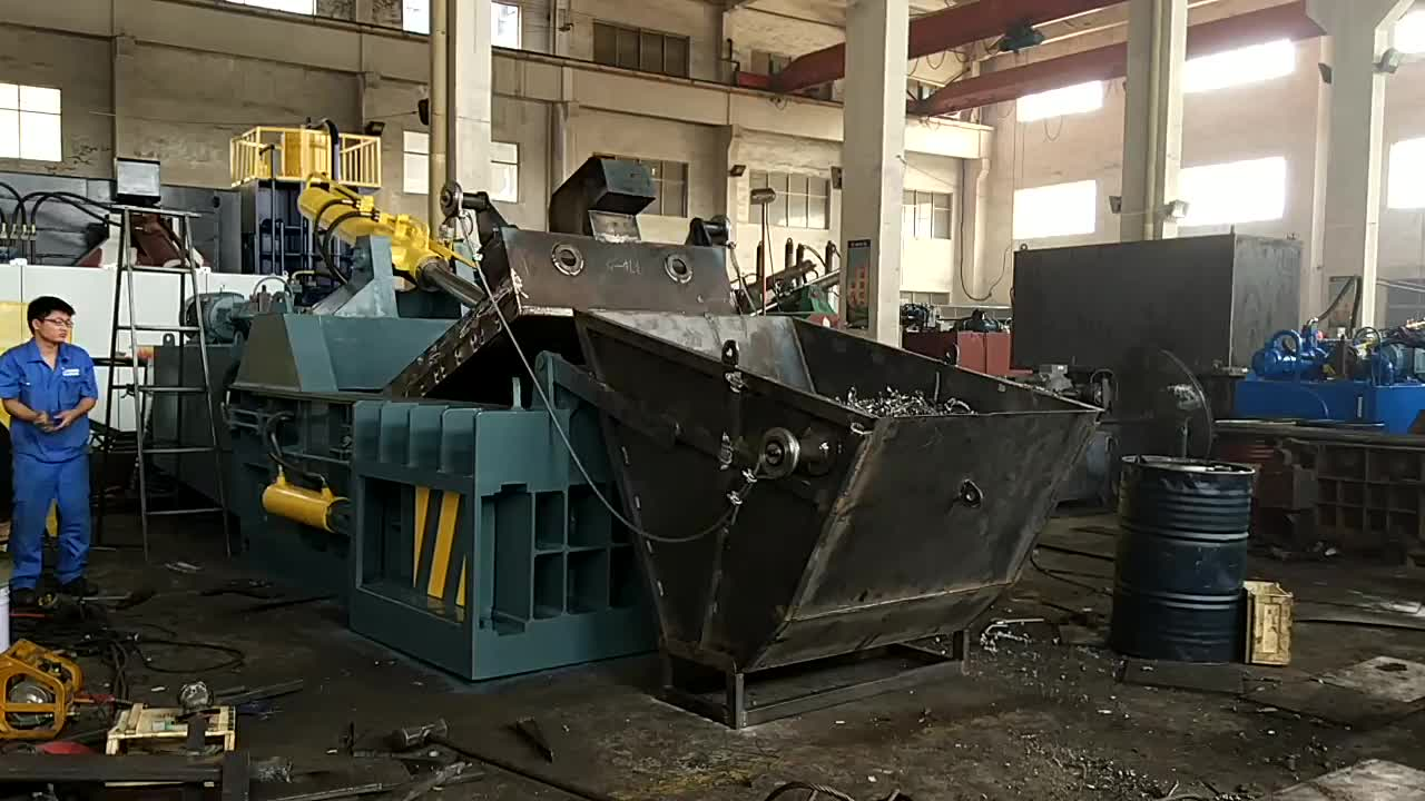 Y81/T-1600A Yeni sistem yatay hurda metal baskı makinesi hazne ile
