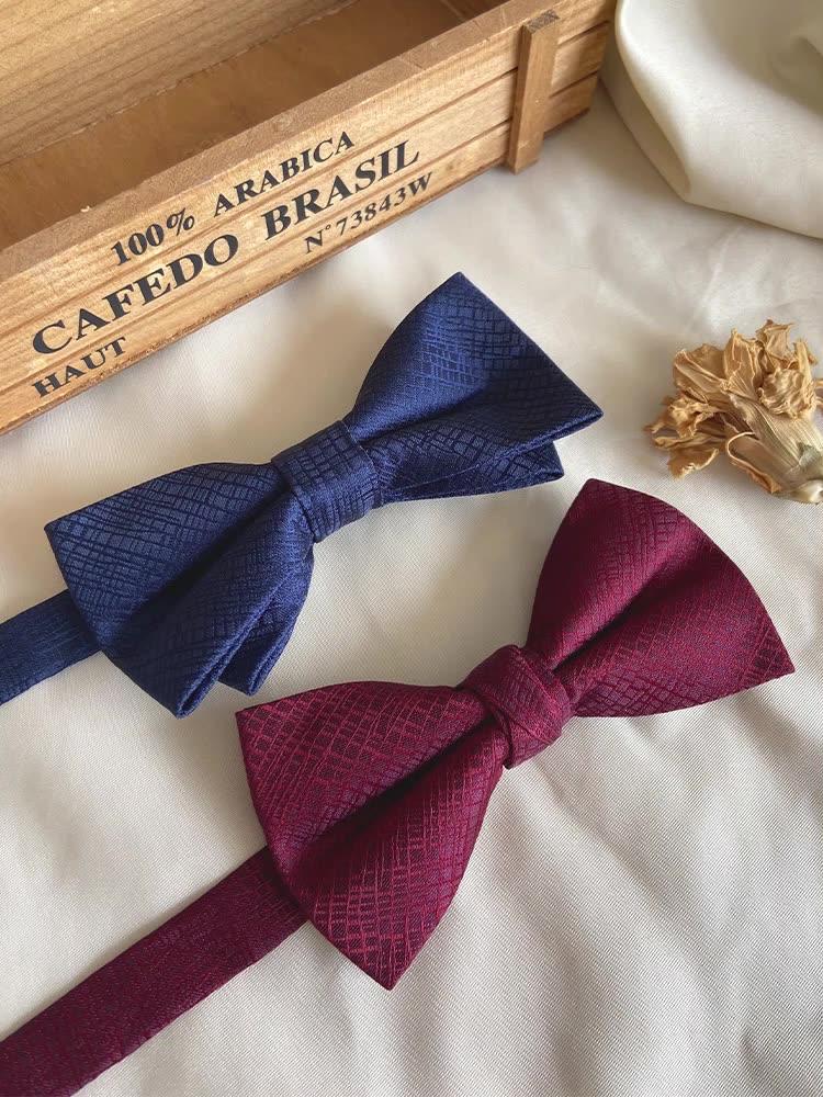 Wholesale Men Bowtie Necktie Handkerchief Clip Set Gift Box Custom Bulk Bow Tie for Wedding