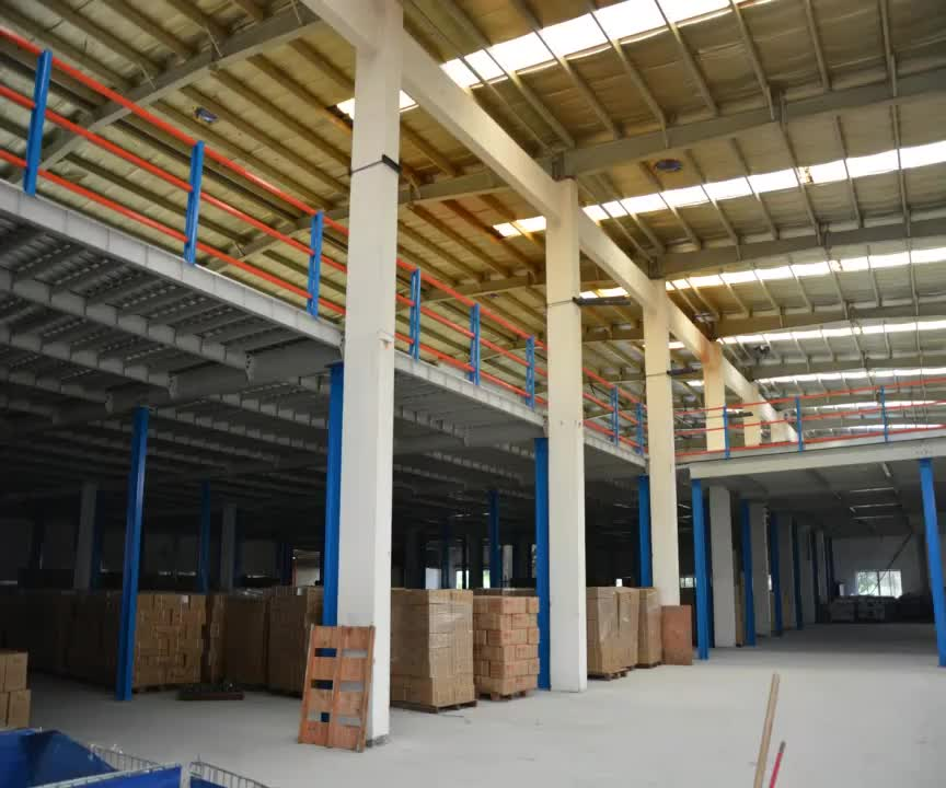 Warehouse Mezzanine Floor for fabric with forklift picking