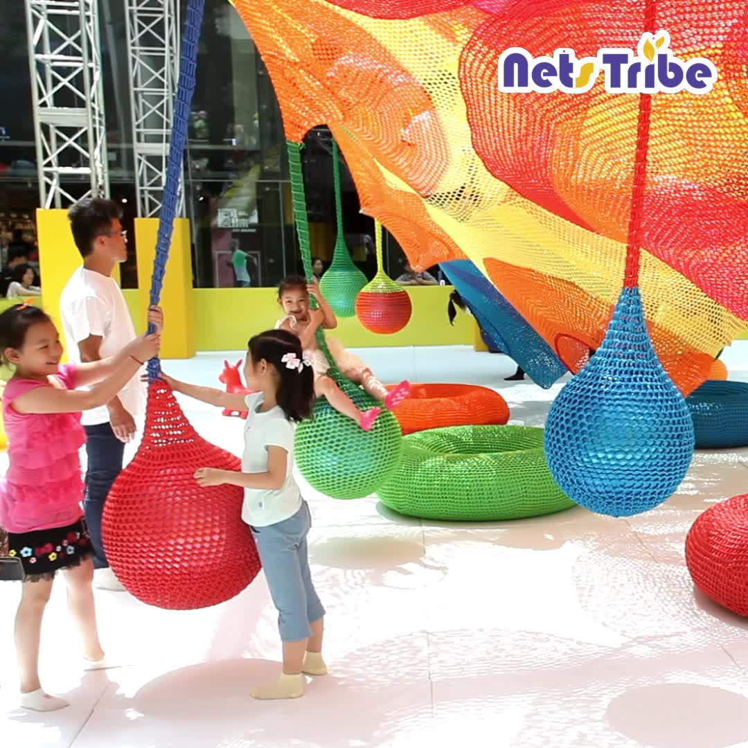 Indoor and outdoor children's naughty castle paradise custom playground equipment facilities rope net dropping ball