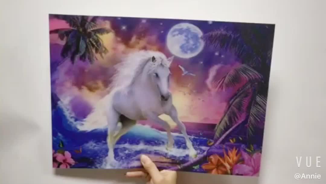 Custom lenticular 3d chinese horse picture