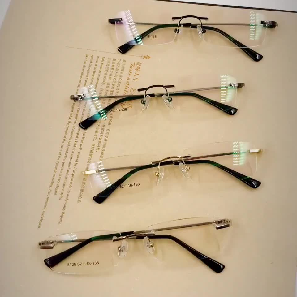 Best selling wholesale glasses style fashion eyewear frameless for reading with memory arm optical frame