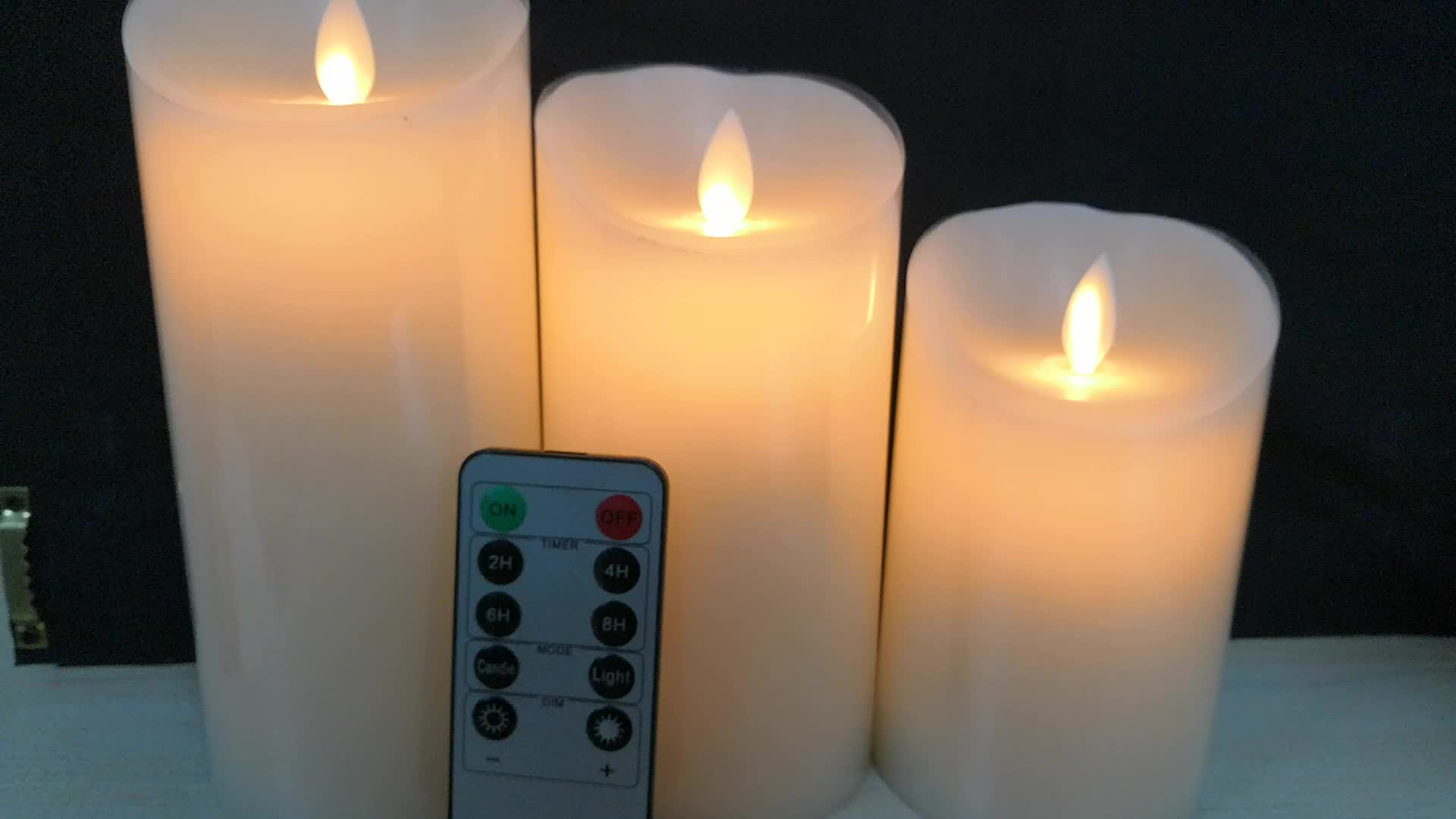flameless wax led flickering candles  wick timer
