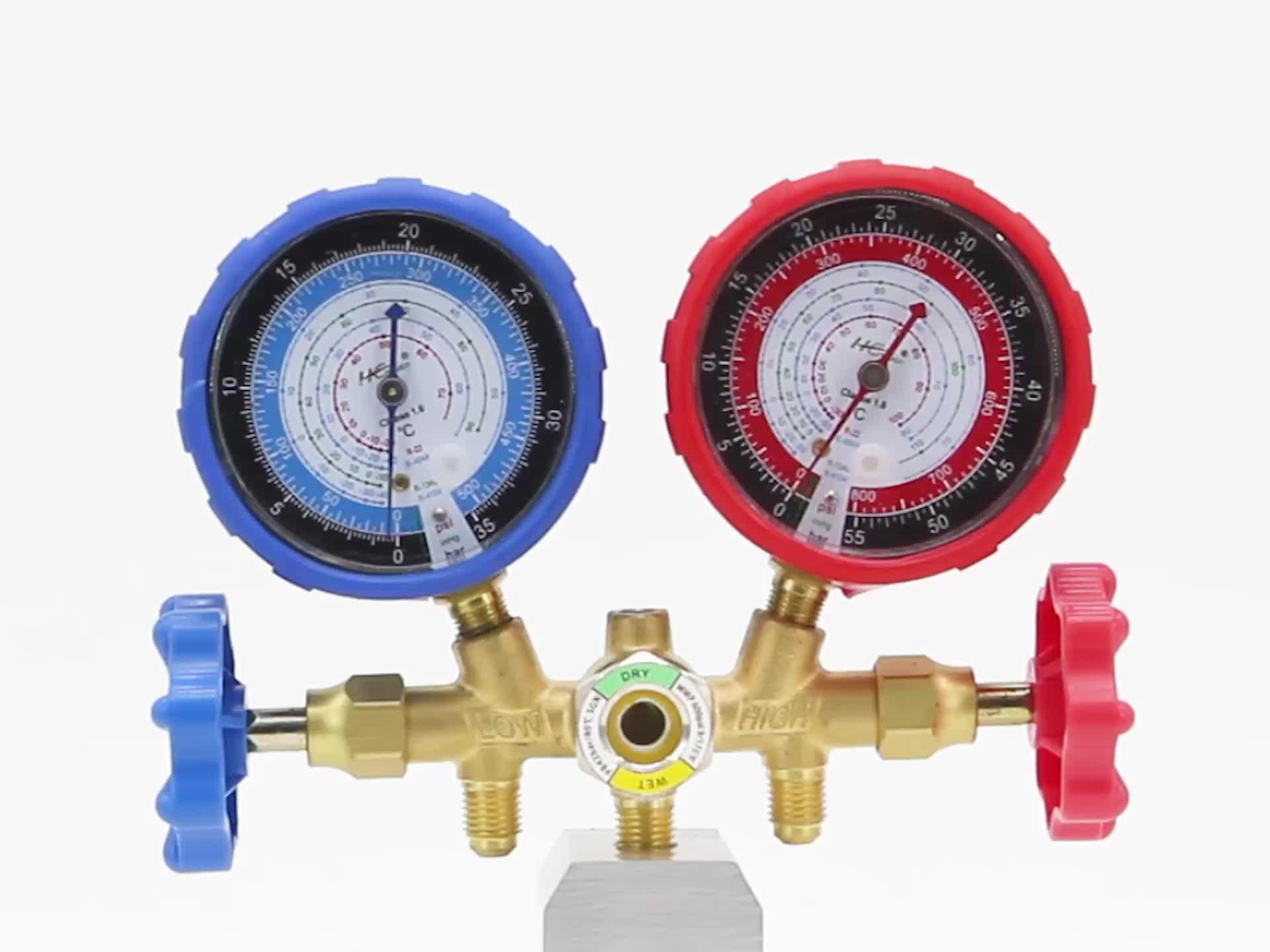 Lạnh thử nghiệm áp suất đường ống đôi đo set meter lạnh