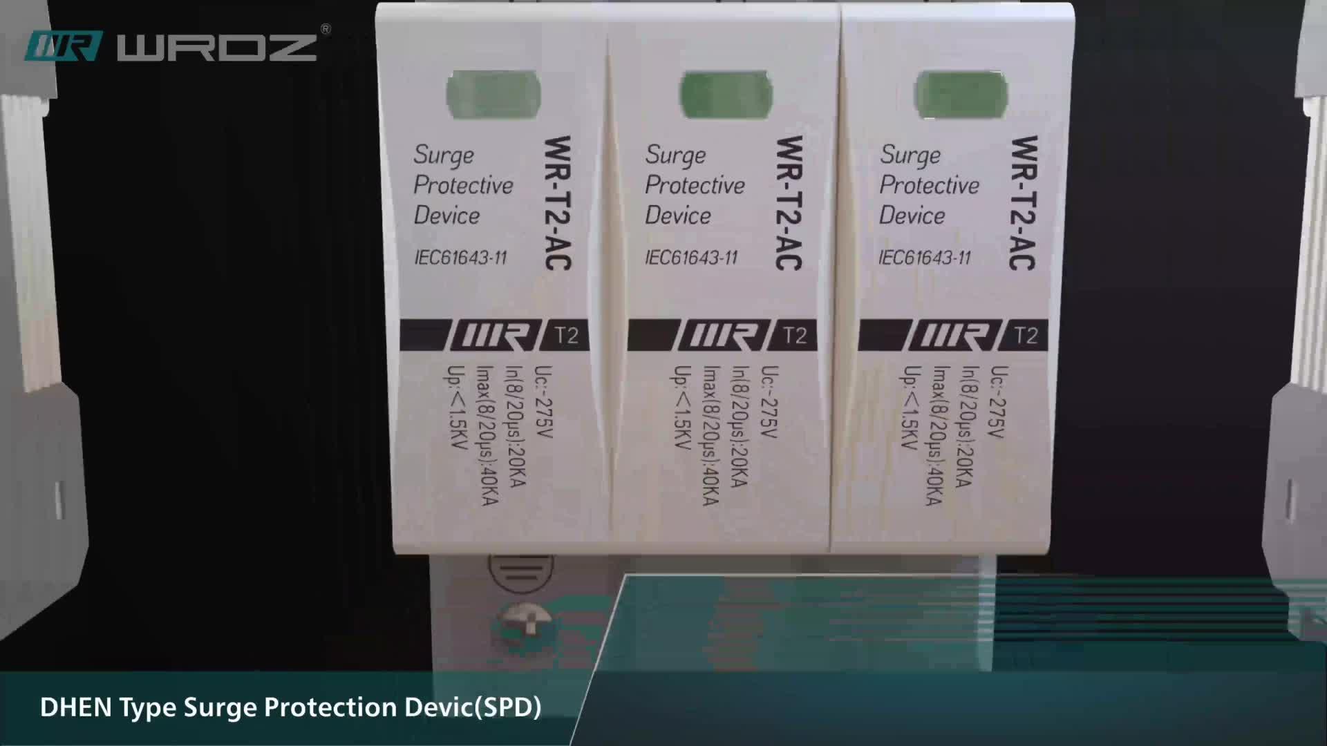 WRDZ Industrial Control 1 Pole T1 AC Lightning Surge Protective SPD Device