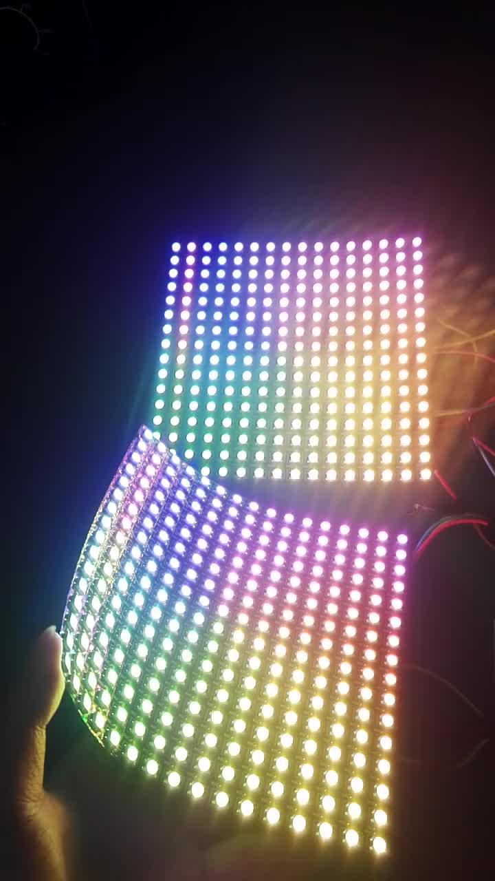 16x16 WS2812 RGBW RGB LED Matrix Punktmatrixanzeige