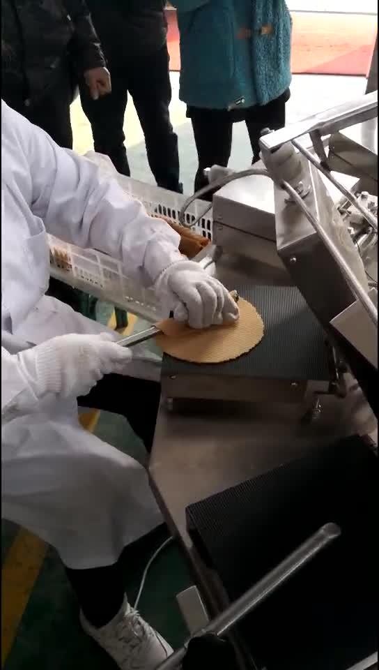 अंडा Waffles रोल वेफर आइसक्रीम कोन बनाने की मशीन