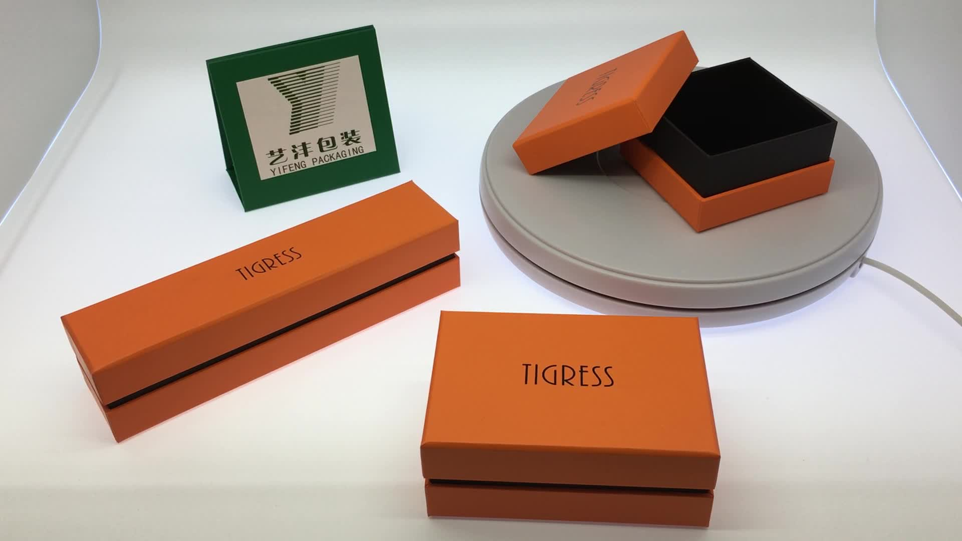 luxury green cookies lid and base cardboard gift box for sweet/chocolate/candy with printing paper tray food packaging